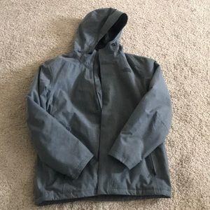 Men's grey North Face rain jacket